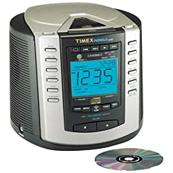 Timex T600B CD Stereo Clock Radio with Nature Sounds (Black) (Discontinued by Manufacturer)