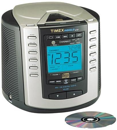 amazon com timex t600b cd stereo clock radio with nature sounds rh amazon com Timex Alarm Clock Instruction Manuals Timex Indiglo Instruction Manual