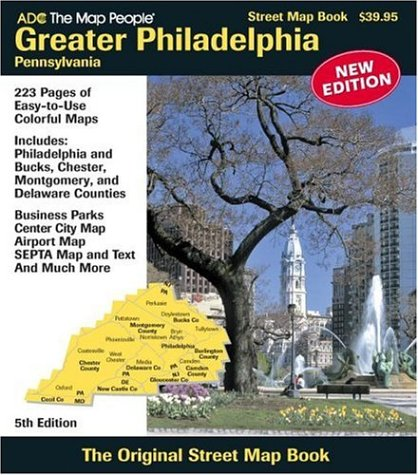 Greater Philadelphia Pennsylvania Street Map Book (Street Map Books)