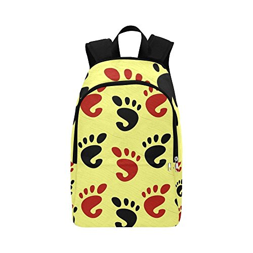ENEVOTX Feet Foot Prints Human Body Organs Fingers Marks Casual Daypack Travel Bag College School Backpack For Mens And ()