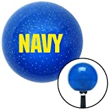 navy blue shift knob - American Shifter Company ASCSNX20609 Yellow NAVY Logo Blue Metal Flake Shift Knob racing 671 427 bbc 7.3 gear