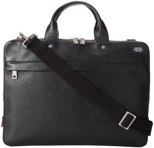Jack Spade Mason Leather Slim Brief Briefcase Black One Size