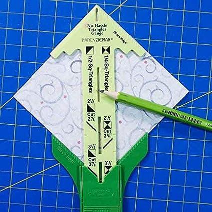 Sewing Tool 5-in-1 Sliding Gauge No-Hassle Triangles Gauge st-a24 with Nancy Zieman Measuring 5-in-1 Sliding Gauge