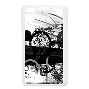 iPod Touch 4 Case White Simple Background Black And White Circle LV7053782