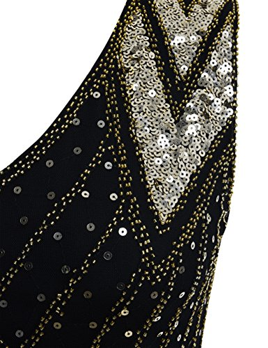 Donne Cocktail Paillettes Gatsby PrettyGuide 1920s Deco Art Vestito Oro Flapper 4CZxq