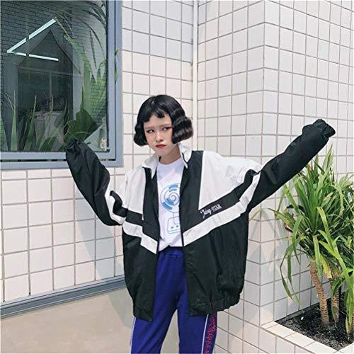 Misti Moda Camicetta Relaxed Estivi Manica Donna Fashion Primaverile Jacket Sportivo Giovane Verarschen Leggero Digitale Autunno Giacche Lunga Pattern Colori Casual Giubbino Cappotto xfqRX7wnx