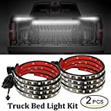LED Truck Bed Lights 2PCS 60Inch Truck Bed LED Strip Light Kit, Waterproof Truck Bed Lighting Bar Switch Fuse Splitter Cable for RV SUV Vans Cargo Boats, Auto Lights by Autoneer(White)