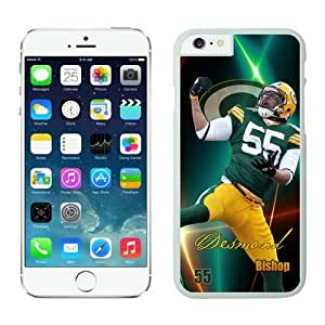 Green Bay Packers Desmond Bishop iPhone 6 Cases White 4.7 inches-lifeproof case for iphone 6