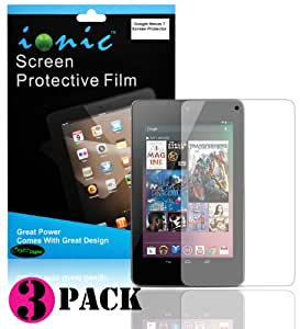 Ionic Screen Protector Film Clear (Invisible) for Google Nexus 7 Tablet (3-pack)[Lifetime Replacement Warranty]