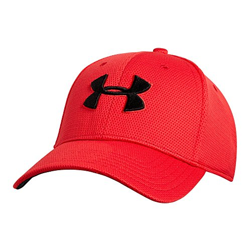 - Under Armour Men's Blitzing II Stretch Fit Cap, Red /Black, X-Large/XX-Large