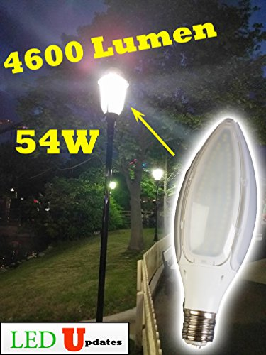 LEDUPDATES LED Corn Bulb 54W High Brightness 4600LM Large Mogul Screw Base E39 SOCKET DAYLIGHT WHITE 5000K 5500K FOR METAL HALIDE HID HPS REPLACEMENT PERFECT FOR WAREHOUSE HIGH BAY STREET LAMP