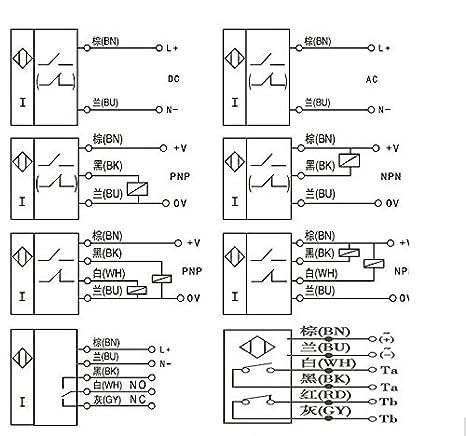 NIANNIAN M18 8 Mm DC 5 V NPN NR LJ18A3-8-Z//BX-5 V Capteur de proximit/é /à induction Interrupteur sans fil