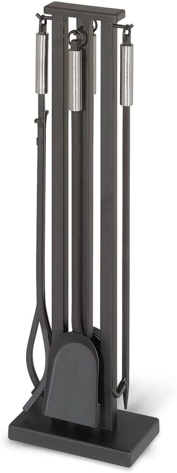 "Pilgrim Home and Hearth 18039 Contemporary Fireplace Tool Set, 32"" H, 22 Lb, Matte Black"