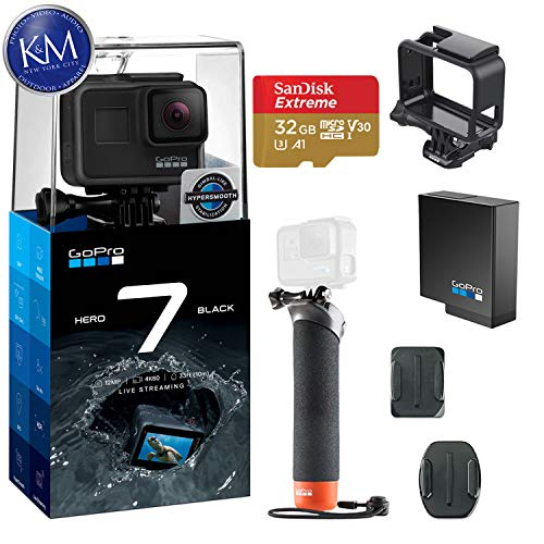 GoPro Hero 7 (Black) Action Camera w/ Extra Battery and Floating Grip Bundle