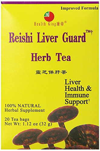 Health King Reishi Liver Guard Herb Tea, 20 Count, 1.12 oz, (Pack of 12) (Reishi Liver Guard Herb Tea)