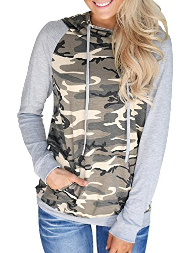 Miskely Women's Camouflage Sweatshirt Casual Long Sleeve Pullover Hoodies With Pocket (Medium) ()