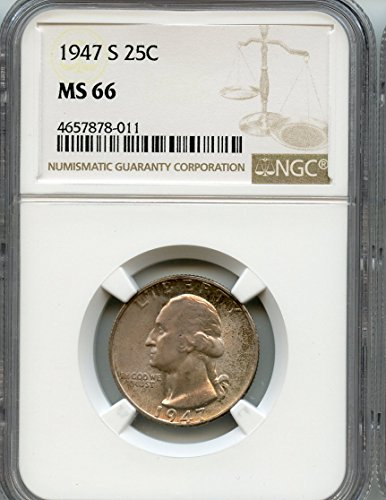 1947 S Washington Quarter MS-66 NGC