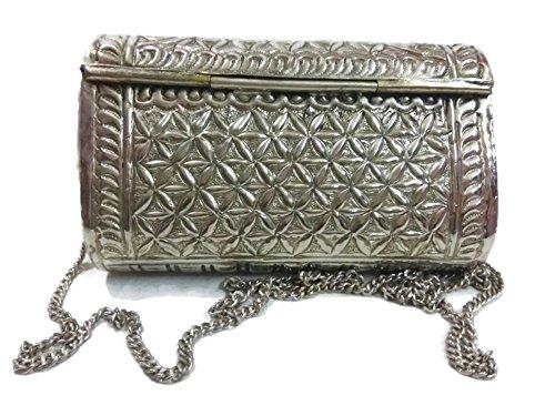 de vendimia del las del a mujeres estilo de monedero de mano metal embrague Overseas la con étnicas antiguas Bolso hechas Trend wfxn0qEUIC