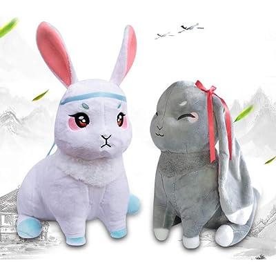 Meiyiu Vercico Gran Maestro de Cultivo demoníaco Wangji Wuxian Rabbit Bunny Doll para fanáticos del Anime Mo Dao Zu Shi Wei Wuxian, Lanwangji, un par 35cm: Hogar