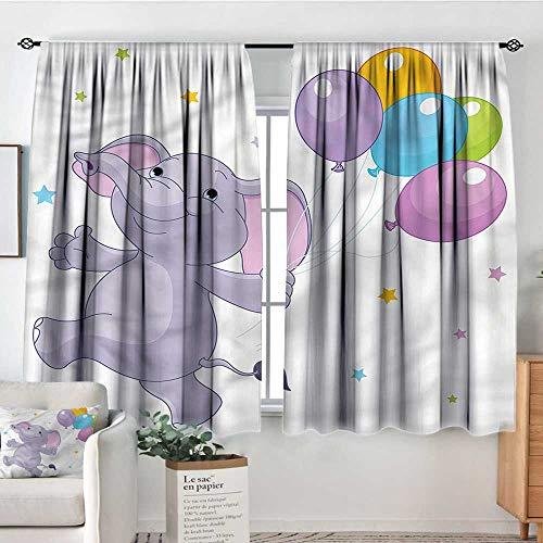 Anzhutwelve Nursery,Curtains Happy Animal Balloons 52