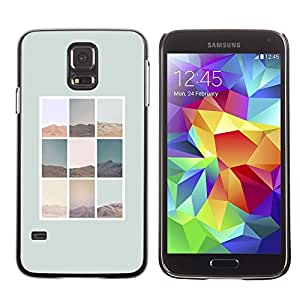[Neutron-Star] Snap-on Series Teléfono Carcasa Funda Case Caso para Samsung Galaxy S5 [Naturaleza Diseño minimalista cartel gris]