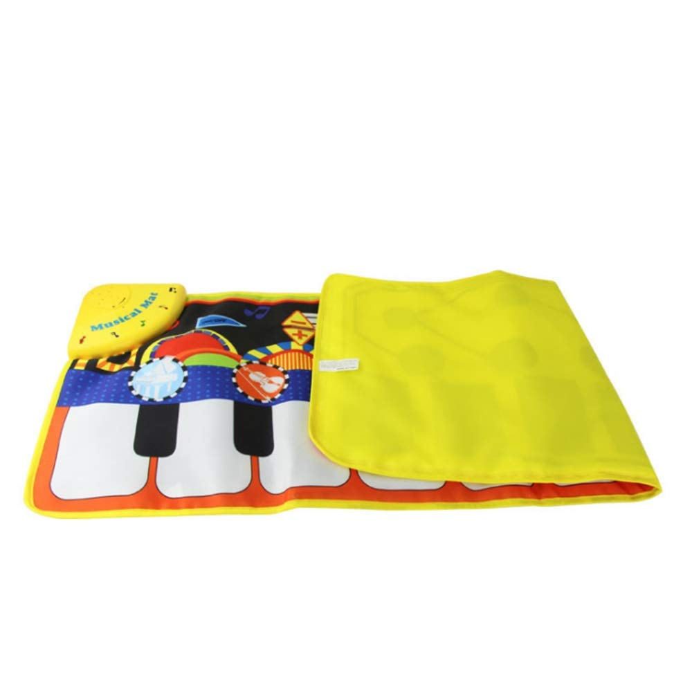 Play Keyboard Mat Electronic Musical Keyboard Playmat 43 Inches 10 Keys Foldable Floor Keyboard Piano Dancing Activity Mat Step And Play Instrument Toys For Toddlers Kids Children's Gift Different Mus by GAOCAN-gq (Image #5)