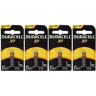 Duracell MN27BPK Watch/Electronic / Keyless Entry Battery, 12 Volt Alkaline X 4 Batteries