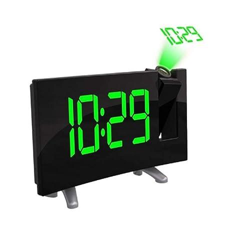 NAOZHONGa Proyector Digital Radio Reloj Despertador Temporizador ...