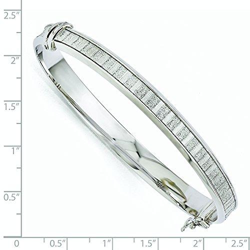 Bracelet en Argent Sterling poli Glimmer infusé 6,75mm