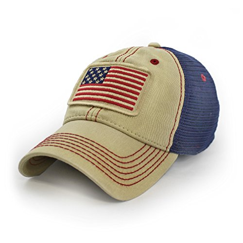State Legacy Revival Everyday Trucker Hat Stars & Stripes, 1812 USA, Natural Canvas