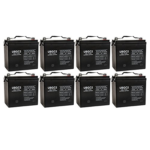 UB-GC2 Golf Cart Gel Cell Battery 6V 200Ah Capacity - L5 Terminal - 8 Pack by Universal Power Group