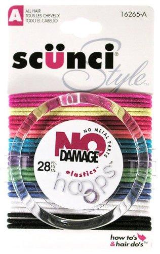 Scunci 1626503a048 No Damage® Hair Elastics Assorted Colors 28 Count - Scunci Hair Dryer