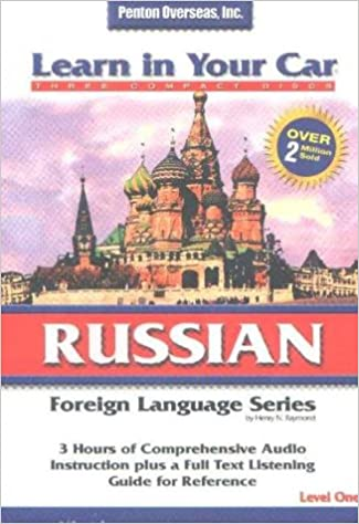 3 CDs with Listening Guide Learn In Your Car Russian Level Two