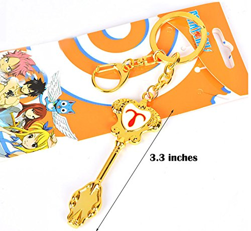 (Dreamcosplay Fairy Tail Aries Logo Pendant KeyChain Key Chain)