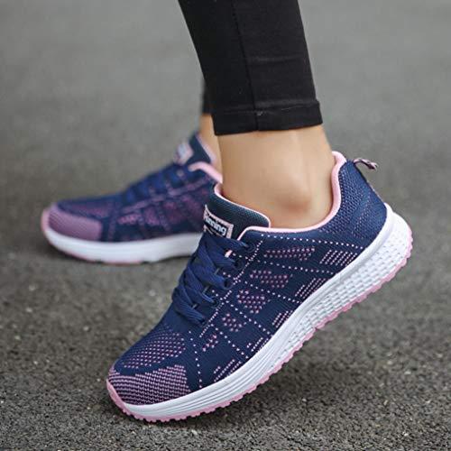 FORUU Women Fashion Mesh Round Cross Straps Flat Sneakers Running Shoes Casual Shoes