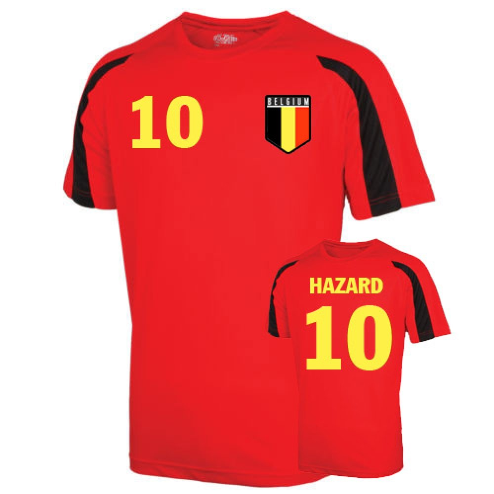Belgium Sports Training Jersey (hazard 10) Kids B01LACGCUIRed SB (5-6 Years)