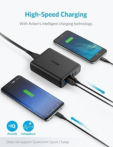 USB Type-C, Anker Premium 5-Port 60W USB Wall Charger, PowerPort I with 1 Power Delivery Port for Apple MacBook, Nexus 5X / 6P and 4 PowerIQ Ports for iPhone, iPad, Samsung and More