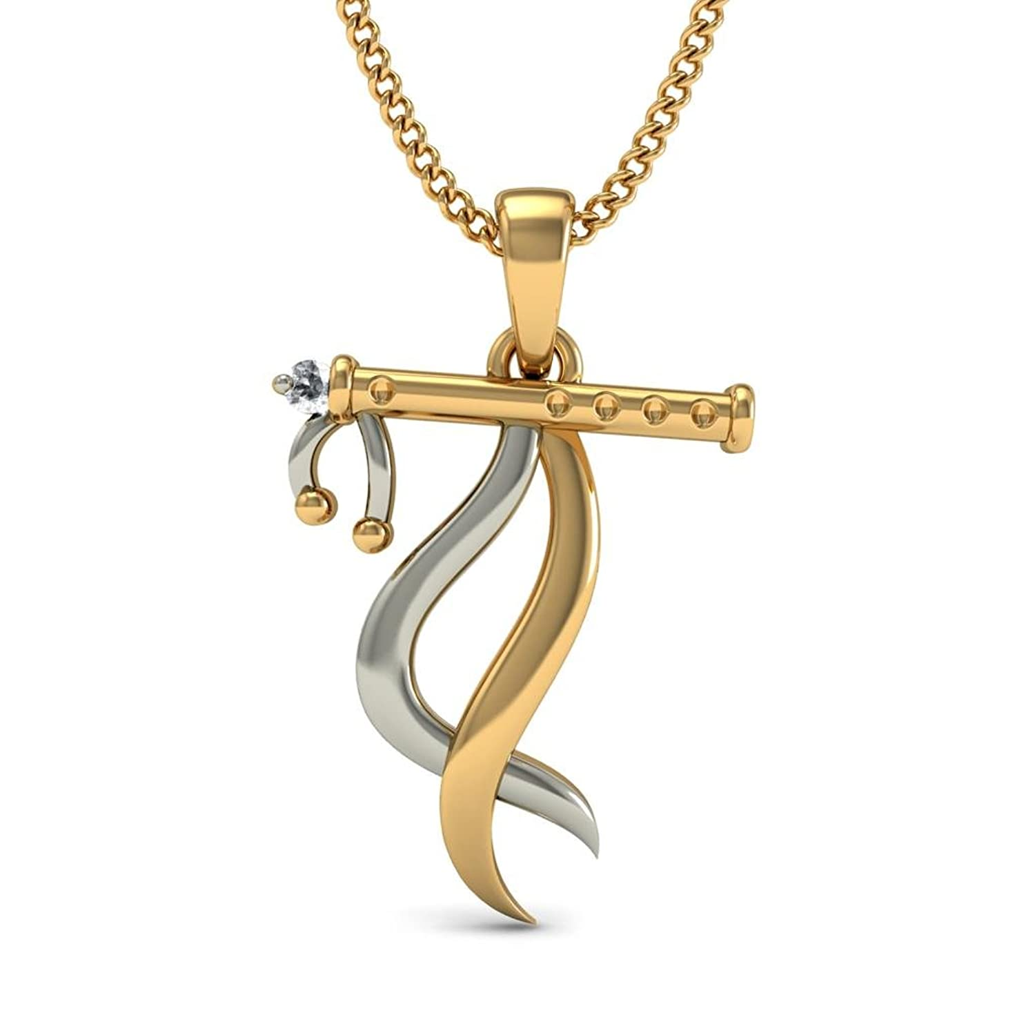Buy BlueStone 14K Yellow Gold and Diamond Pendant Online at Low ...