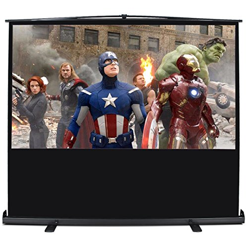 Arksen 100 Inch 16:9 Ratio Home Movie Theater Projector Entertainment Screen with Aluminium Case and Stand by Arksen