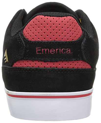 Emerica-The Reynolds Low Vulc, Color: Black/White/Red, Size: 42 EU (9 US / 8 UK)