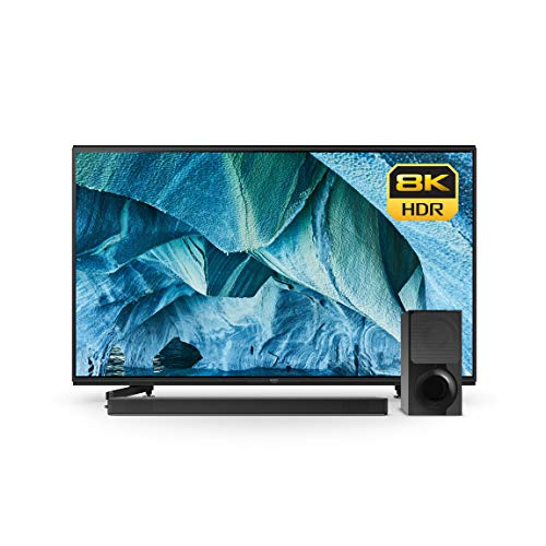 Sony XBR-85Z9G 85-Inch 8K HDR Smart Master Series LED TV (2019 Model)With X9000F 2.1ch Soundbar with Dolby Atmos and Wireless Subwoofer (HT-X9000F)