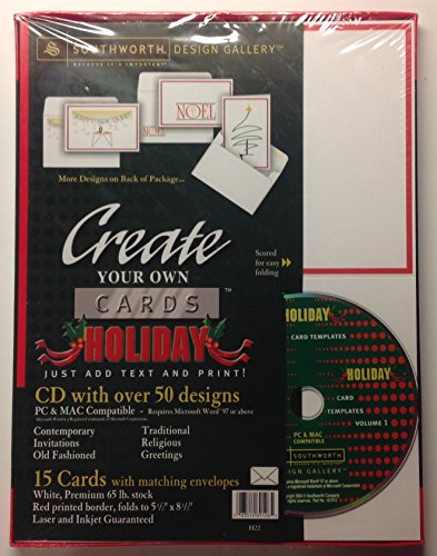 Create Your Own Holiday Greeting Cards Stationary - CD 50+ Designs PC & MAC - Just Add Text and Print