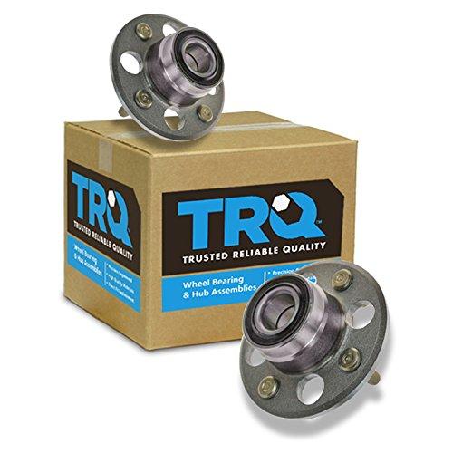 Seal Honda Civic Wheel - TRQ Rear Wheel Hubs & Bearings Pair Set of 2 for Del Sol Civic CRX 4 Lug