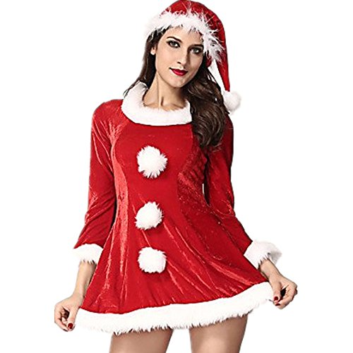 WCG Women¡¯s Sexy Festive Sleigh Belle Santa Costume , red-free , red-free (Sleigh Belle Sexy Costume)