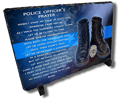 Police Officer's Prayer Stone Plaque from Redeye (Kitchen Prayer Plaque)