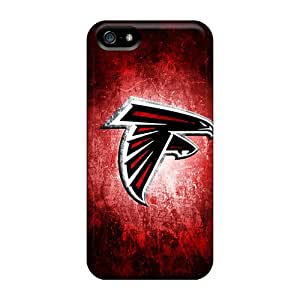 Anti-Scratch Hard Phone Cases For Iphone 5/5s (FbO17774NqLl) Provide Private Custom Fashion Atlanta Falcons Series