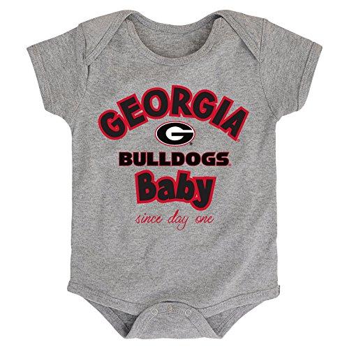 NCAA Georgia Bulldogs Newborn & Infant Team Baby Bodysuit, 18 Months, Heather Grey (Clothing Georgia)