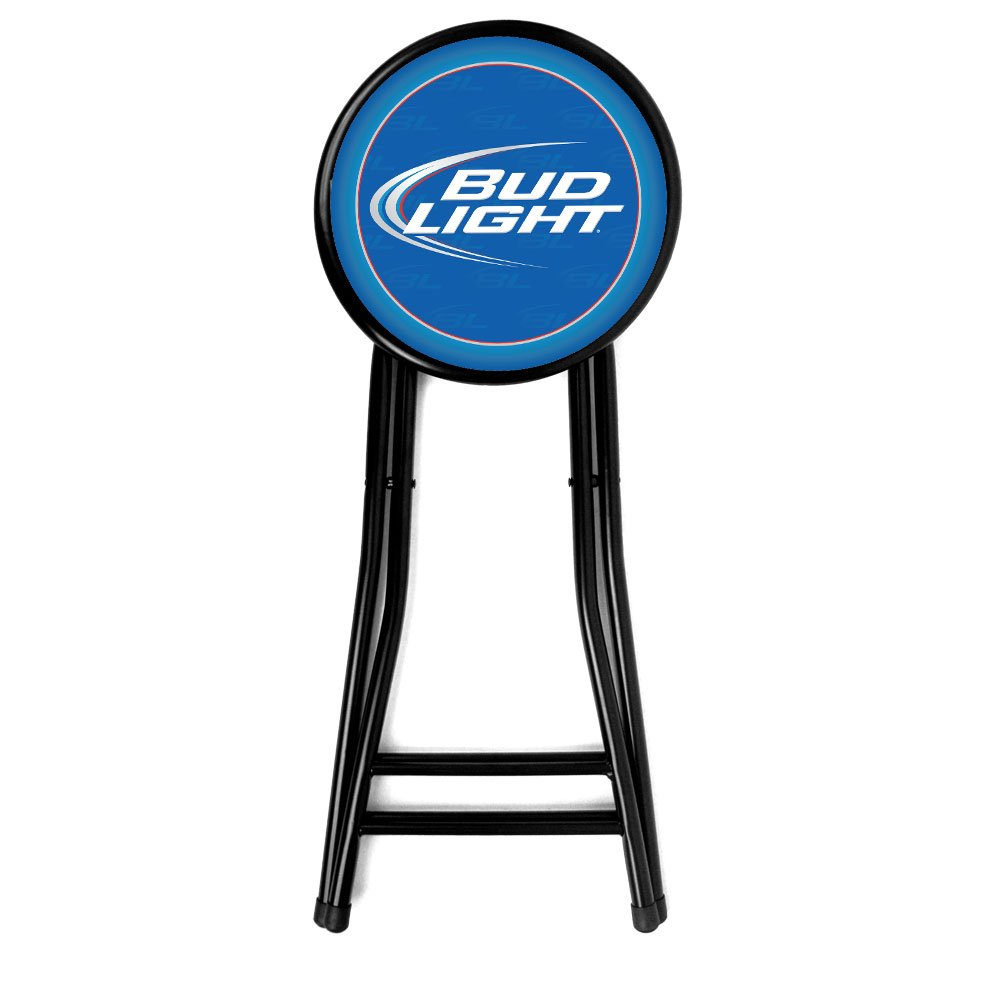 Amazon.com: Bud Light Taburete plegable, acolchado, 24 ...