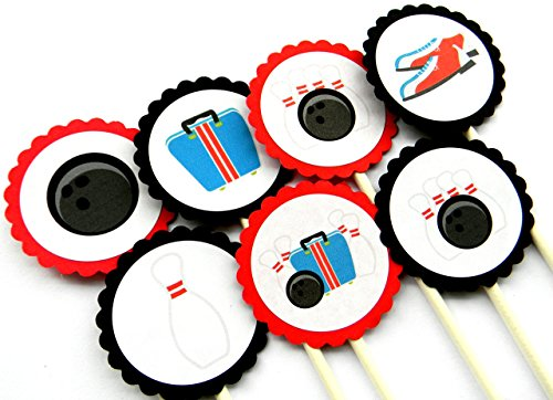 Bowling Cupcake Toppers - Set of 12 ()
