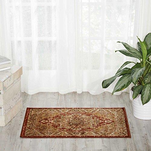 (Nourison Delano DEL05 Traditional Oriental Persian Brick (Red) Accent Area Rug, 2' x 3')